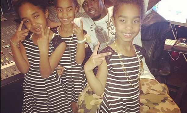Stuntin' Like Their Daddy: Diddy's Daughters Kick It In The Studio And Hit The Nae Nae With Big Bro Christian [Video/Photos]