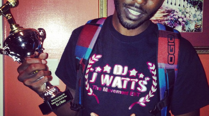 DJ J Watts gets College Party DJ of Year Award 2014 @ ‪#‎SCDJAwards‬