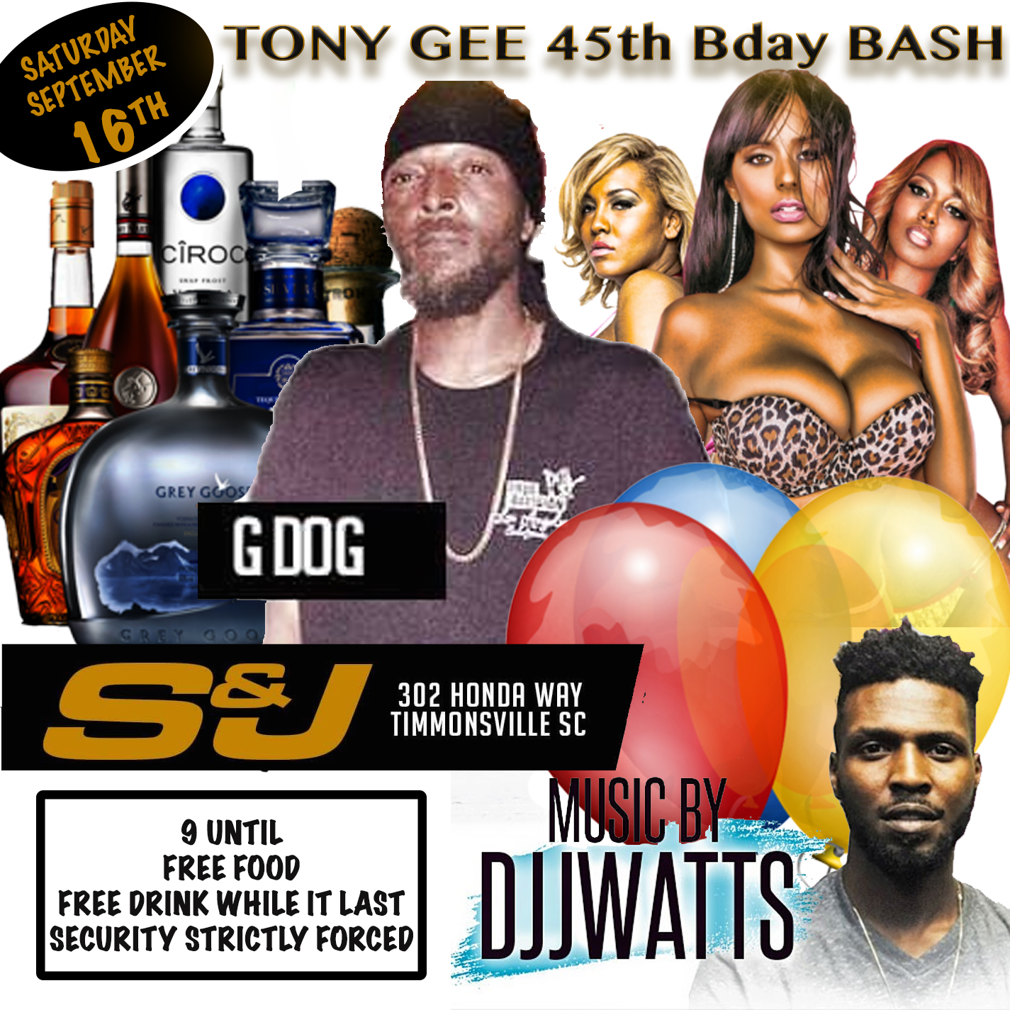 TONY GEE 45TH B DAY BASH